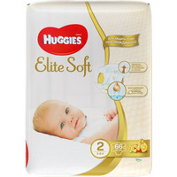 HUGGIES Elite Soft NewBorn 3-6 кг (66)