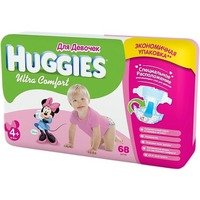 HUGGIES Ultra Comfort Girl 10-16 кг (68)