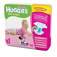 HUGGIES Ultra Comfort Girl 5-9 кг (94)