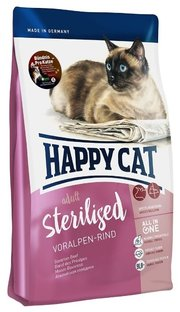 Happy Cat Корм для кошек Sterilised Voralpen-Rind фото