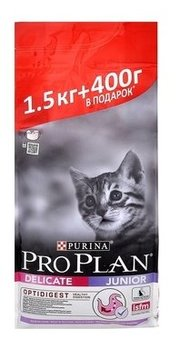 Purina Pro Plan Корм для кошек Junior Kitten Delicate with Turkey фото