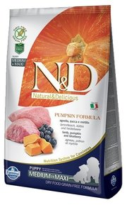 Farmina Корм для собак N&D Grain-Free Canine Pumpkin Lamb & Blueberry Puppy Medium & Maxi фото