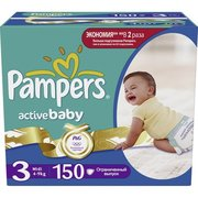 Pampers Active Baby 4-9 кг (150) фото