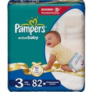 Pampers Active Baby 4-9 кг (82) фото