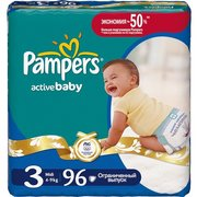 Pampers Active Baby 4-9 кг (96) фото