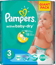 Pampers Active Baby-Dry 3 Midi фото