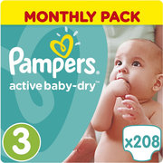 Pampers Active Baby-Dry 5-9 кг (208) фото