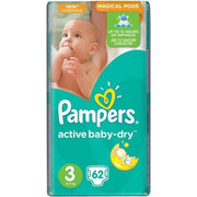 Pampers Active Baby-Dry 5-9 кг (62) фото