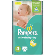 Pampers Active Baby-Dry 8-14 кг (70) фото